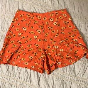 Kimchi Blue sunflower print shorts